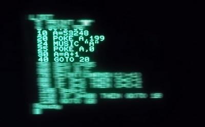 Denne koden får UFO-en til å flytte seg over skjermen.