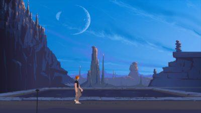 Another World. Dette er 20th Anniversary-versjonen som selges på Steam.