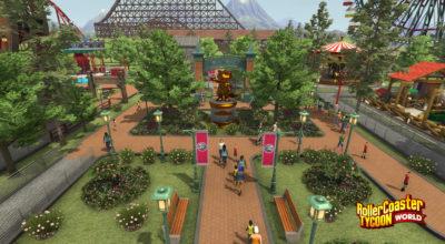 Her er Rollercoaster Tycoon World.