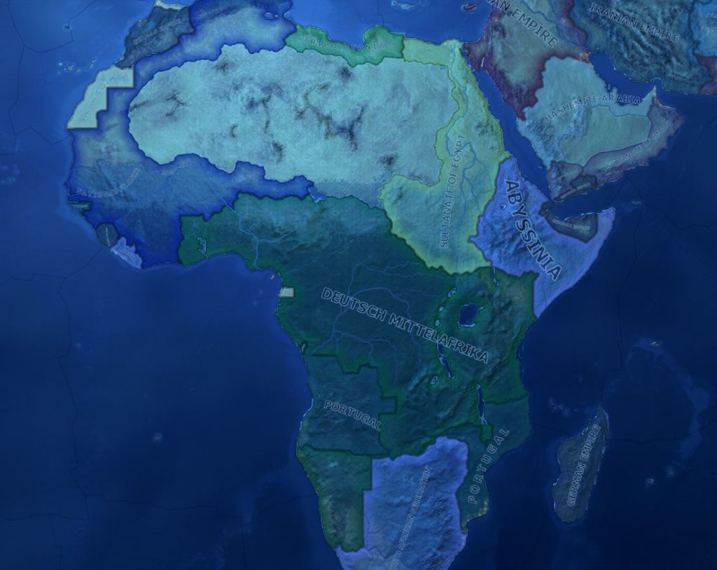Tyskland har en stor stat i midten der. Ledet av Herman Göring.