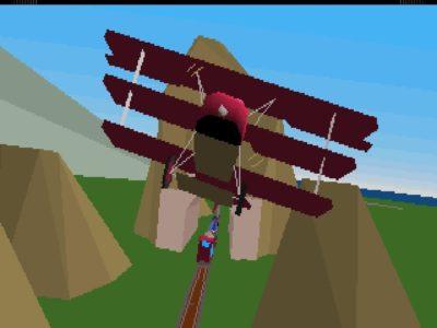 Da Stunt Island først kom ut, var «goraud shading» en stor greie. Se den glatte skyggeleggingen på flyet!