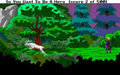 Et sted i skogen.