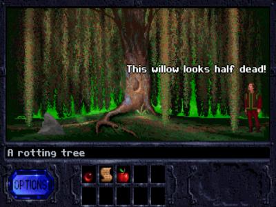 Begge spillene starter ved et piletre.