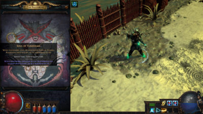 Pantheon-systemet i Path of Exile.