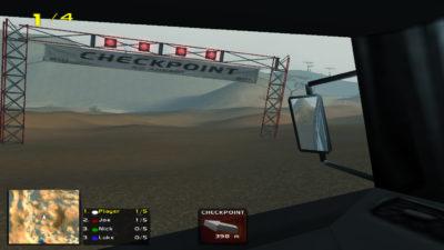 Du kan se handlingen fra inni bilene også.