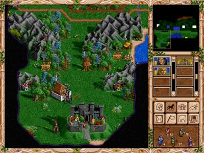 Ofte står det nøytrale hærer og beskytter ressursene i starten av spillet.