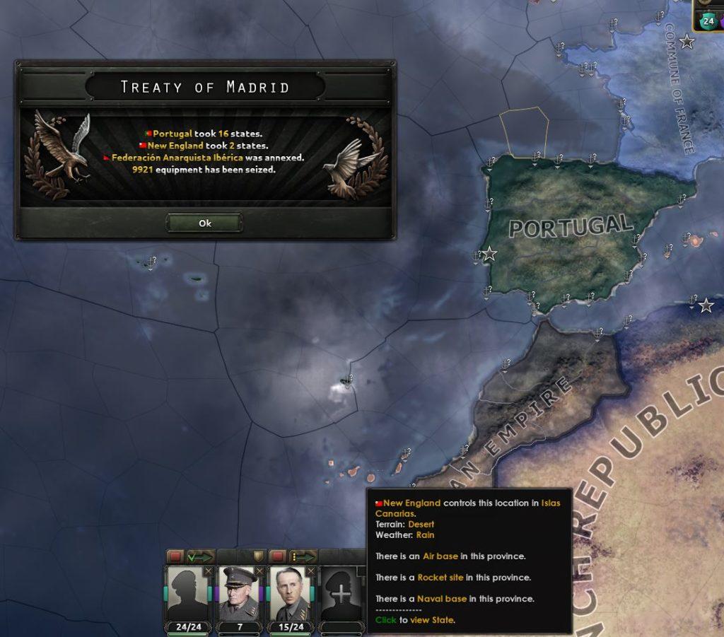 Portugal sterk.