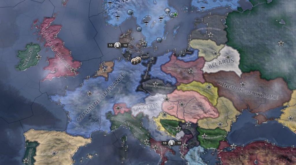 Tyskerne har tapt det kontinentale imperiet sitt, og nå gjenstår kun koloniene og lydrikene i øst.