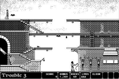 Plattformspillet Dark Castle.
