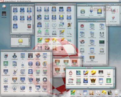 Mange fine ikoner i AmigaOS 4.