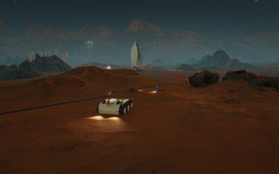 Spillet får en retro-futuristisk grafikkstil.