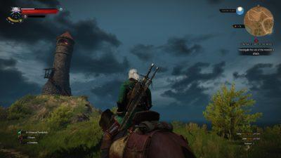Geralt besøker et fyrtårn.