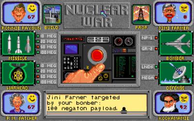 100 megatonn bør få ham til å holde kjeft en stund.