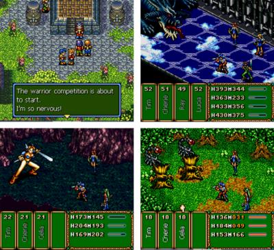 Bilder fra Brave Battle Saga.