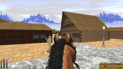 Ny og gammel grafikk i Daggerfall Unity.