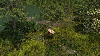 Spillfiguren nyter en stille stund.