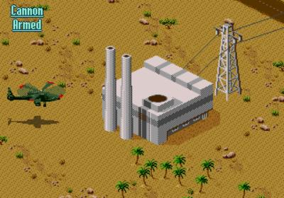 Et tidlig mål i spillet (Amiga).