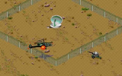 Det første målet speiler den første i virkelighetens Desert Storm, der Apache-helikoptre ble sendt inn for å ødelegge irakiske radarsystemer (MS-DOS).