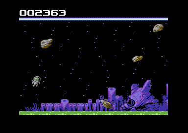 Spaceman Splorf på Commodore 64.