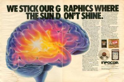 Tidlig Infocom-reklame. Bilde fra Archive.org.