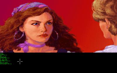Guybrush mister taleevnen når han møter Elaine.