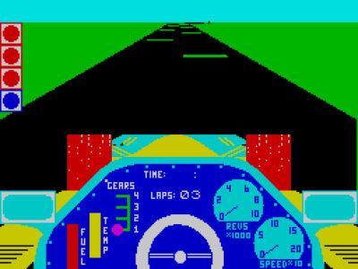 Chequered Flag er et tidlig forsøk på å lage en racingsimulator.