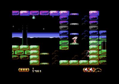 Commodore 64 har bare 16 farger, men spillet bruker dem godt.