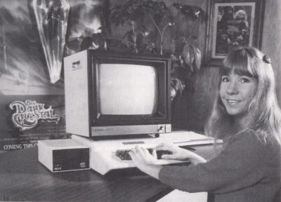 King's Quest-designer Roberta Williams, antakeligvis i 1983.