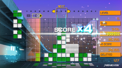 Lumines Remastered.