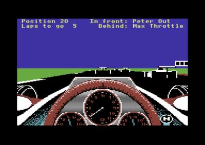 Revs+ på Commodore 64.