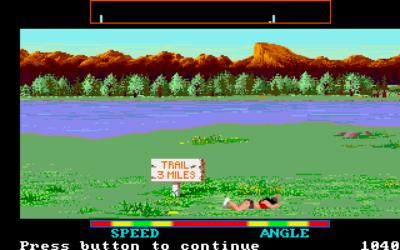 Nok et bilde fra Amiga-versjonen. Du kjenner kanskje igjen fjellet i bakgrunnen?