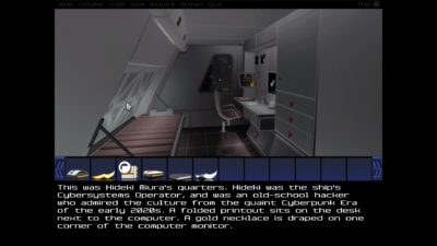 Legend startet som teksteventyrspill-utvikler, så forvent litt mer tekst her enn i førstepersonseventyr flest.