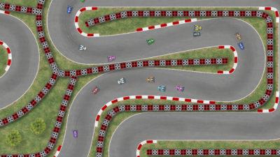 Det kan være 20 biler på banen samtidig.