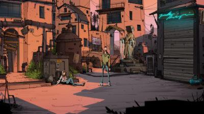 Det kan se ut som spillet foregår i en dystopisk verden.