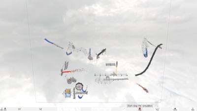 Rube Goldberg-aktig kjedereaksjon som jeg lastet ned fra nettet.