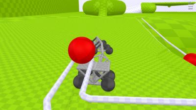 Her styrer du «lastebilen», og må levere baller rundt på brettet.