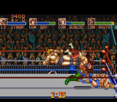 Saturday Night Slam Masters. Bildene er fra Mobygames.