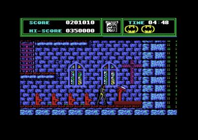Commodore 64-versjonen har noen detaljer Amiga-versjonen ikke har.