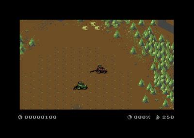 Slik tar Commodore 64-versjonen av Farming Simulator seg ut.