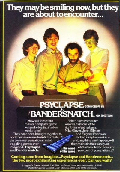 Reklame for det virkelige spillet Bandersnatch. Scannet av Arcade Artwork.