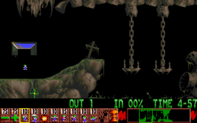 Her er litt grafikk fra Shadow of the Beast II, i Lemmings.