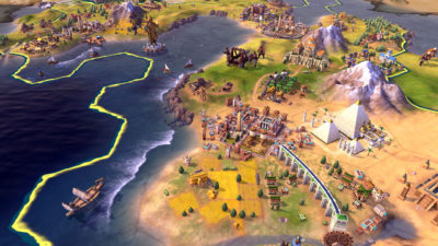 Sid Meier's Civilization VI på Switch.