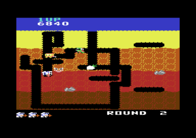 Dig Dug på Commodore 64.
