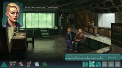 Hovedpersonen har kybernetiske implantater som kan hjelpe henne på ulike måter.