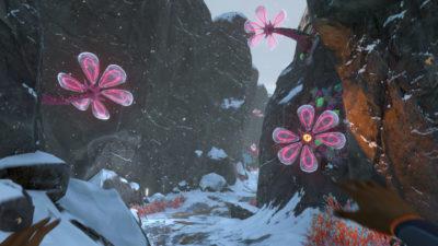 Fine blomster, får håpe det ikke spretter noe ut fra dem og eksploderer.