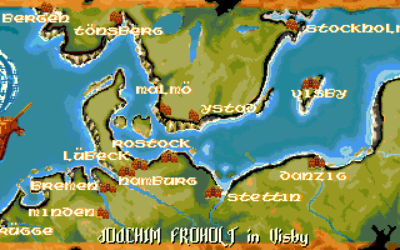 Spillkartet strekker seg fra London i vest til Novogorod i øst.