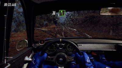 Her starter jeg etter en håndfull andre biler, og du kan se hvordan veibanen er litt oppkjørt.