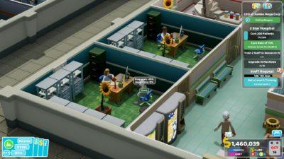 Legekontoret er det viktigste rommet i sykehuset.