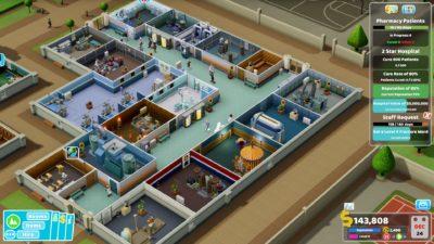 Mens dette sykehuset har behandlingsrommene i en egen bygning.