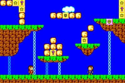 Alex Kidd in Miracle World.